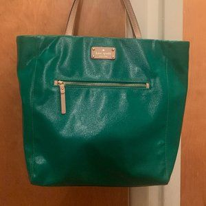 Kate Spade Kerryn Coated Canvas Tote Green